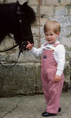 Prince Harry with his pony, Smokey, at Highgrove House    (Photo by Tim Graham/Getty Images)