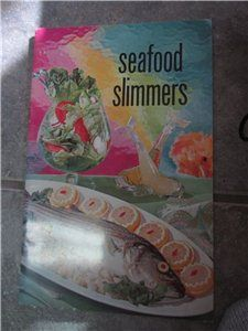 Seafood Slimmers Fish Recipes Commerce 1966 Vintage Cookbook Recipe Book Booklet kookykitsch.com