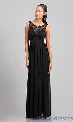 Floor Length Sleeveless Dress at SimplyDresses.com
