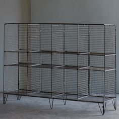 Convenient storage with a nostalgic twist – our Wire Gymnasium Shelving Unit is perfect for kids' rooms, game rooms or any room frequented by a sports fanatic.  Great for storing and organizing a vari...