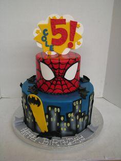 Batman and Superman 4th Birthday, Birthday Cakes, Birthday Ideas, Batman Party, Superhero Party, Celebration Cakes, Birthday Celebration, Batman And Superman, Desserts
