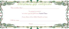 Palm Leafs Christmas Gift Certificate Template