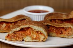 This is the perfect party appetizer...Italian Chicken Parmesan stromboli...mmm