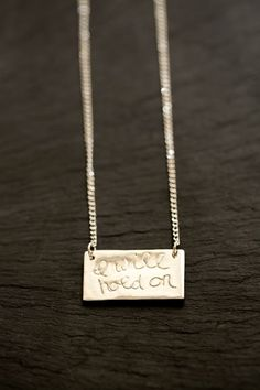 I will hold on ....    Sterling Silver by SpeakUpbyCameron on Etsy