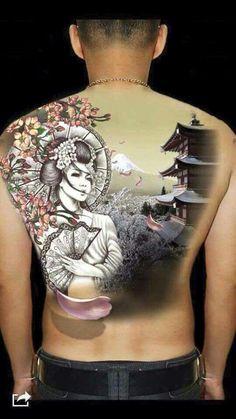 Resultado de imagen de tatuaje geisha brazo mujer