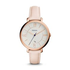 Designed for the girl with a certain charm, Jacqueline is the watch that pulls it all together. A blush leather strap paired with our signature steel case makes it a tomgirl classic.