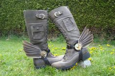 Steampunk Boot Wings!