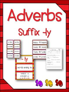 Printables Suffix Ly Activities teaching activities and lessons on pinterest writing papers adverbs suffixes ly language center no prep resources worksheets
