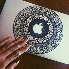 phone case boho MacBook decal sticker macbook pro macbook case pattern bohemian indonesian fiji blue