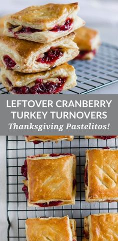 Leftover Cranberry + Turkey Turnovers (Thanksgiving Pastelitos!)