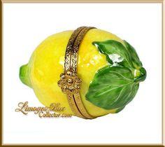 Luscious Lemon Limoges Trinket Box (Beauchamp)