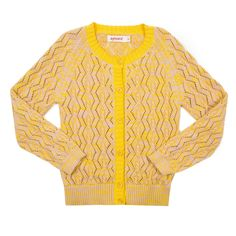 Cardigan New York Yellow/Powder - Aymara online Kinderkleding - Kids Webshop Goldfish.be