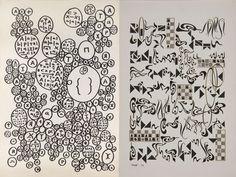 Leon Ferarri and Mira Schendel: Language as Visual Subject Matter Stencil Designs, Source Of Inspiration, Moma, Lettering Design, Stencils, Language, Texture, Contemporary, Creative