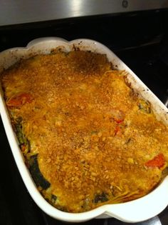 roasted veggie kugel with quinoa noodles    bootedprincessa.wordpress.com