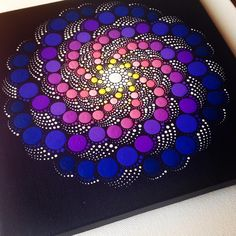 "231 Likes, 7 Comments - Mandalas and painted rocks (@createandcherish) on Instagram: ""#createandcherish #painting #art #dotart #mandalas #the100dayproject #the100daysofmandalas"""