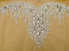 Crystal Rhinestone Applique for Sweetheart Neckline Bridal Dresses Strapless Wedding Gown
