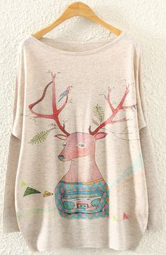 Christmas Pullover Patteren Round Neck Sweaters