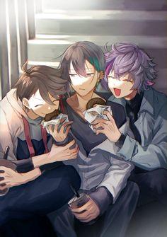 Cool Anime Guys, Handsome Anime Guys, Cute Anime Boy, Cute Anime Couples, Anime Art Girl, Anime Group Of Friends, Friend Anime, Anime Best Friends, Cute Anime Character