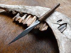 Ru Titley Knives — Mud spike shard . Made from a 5mm thick 52100... Would make a great striking knife for wood working