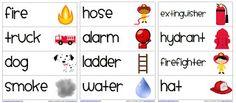 Fire Safety Vocabulary Word Cards Freebie {First Grade Garden}