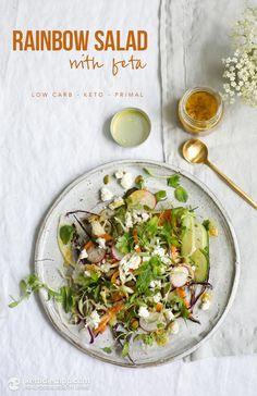 Low-Carb Rainbow Salad with Feta