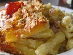 Cuisine maison, d'autrefois, comme grand-mère: Gratin de macaronis à la lyonnaise, un plat facile, économique