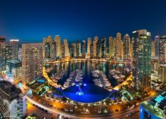 The Dubai Marina Yacht Club is situated on a man made canal. The Marina offers restaurants with stunning views to dine in and luxury yatch tours depart from this area, showcasing Dubai from a different perspective. Beautiful World, Beautiful Places, Beautiful People, Marina Dubai, City Lights At Night, Luxury Yachts, Australia Travel, Luxury Travel, San Francisco Skyline