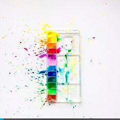 rainbow of colors | ... Instagrammer @aurelycerise #Paint a #rainbow of #color | rainbowgram