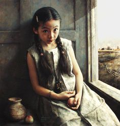 Zhao Kailin's Young Girl Seated