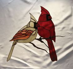 Stained Glass Cardenales #StainedGlassPanels