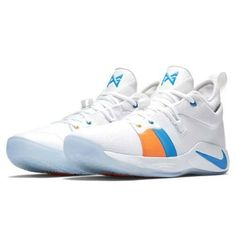 9ee1c4b57fe6 Nike PG 2 Mens Basketball Shoes 12 White Photo Blue Paul George  Nike   BasketballShoes