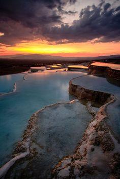 Pammukkale Sunset, Turkey