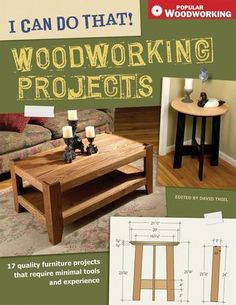 Each project requires a minimum of tools (only hand and portable power tools) and a minimum of woodworking experience. These projects need only inexpensive materials that are easily found at your local home center stores, saving you time and money. This book includes a training manual for using each tool, making it perfect for the beginning woodworker. The projects are not the typical napkin holders.
