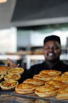 Savoury tarts and pies at the Euro Haus where flavours and people meet. www.eurohaus.co.za