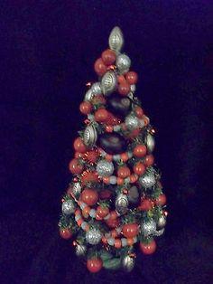 Ohio State Football Buckeye Fully Decorated Tabletop Christmas Tree