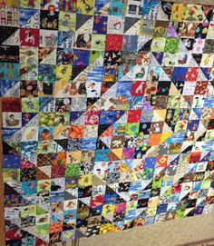 36 nine patch blocks done. Fun quilt for my d-gd Not sure if I'll add a border Cute Quilts, Boy Quilts, Scrappy Quilts, Paper Peicing Patterns, Disney Quilt, I Spy Quilt, Postage Stamp Quilt, Homemade Quilts, Strip Quilts