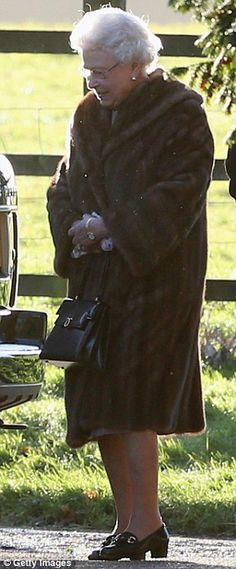 The Queen arrives for a Christmas Day service at The Church of St Mary Magdalene on the Sandringham Estate