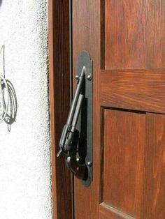 Blacksmith/gunsmith at work. Larry, Door Handles, Floors, Flats, Door Knobs, Flooring, Door Knob
