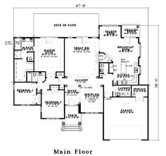 House Plan 62228 Level One