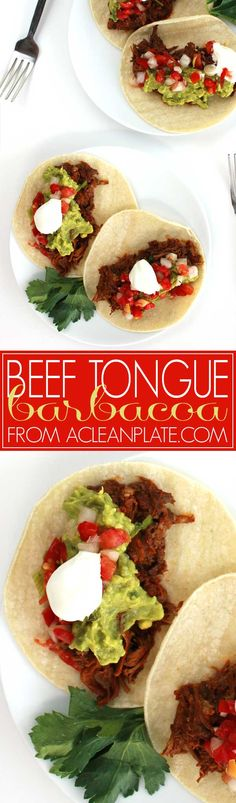 Easy, Delicious Beef Tongue Barbacoa recipe from acleanplate.com