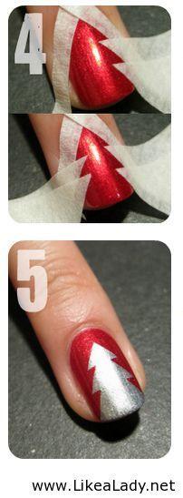 #christmastree #manicure
