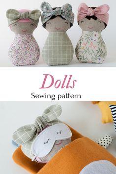 Dolls sewing patterns PDF Rag doll tutorial Styffed toys Soft dolls Handmade toys Nursery decor PDF Sewing for kids Beginner projects Easy – Sewing Projects Sewing Hacks, Sewing Tutorials, Sewing Crafts, Sewing Tips, Sewing Ideas, Tiny Dolls, Soft Dolls, Diy Niños Manualidades, Rag Doll Tutorial