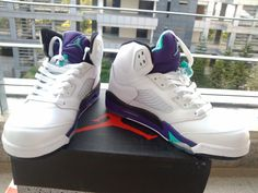 80fc37dcbb5 Air Jordan 5 White Grape Cheap Jordan Shoes