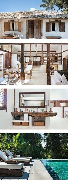 Villa Dream Bathroom - Decor And Home Small Beach Houses, Tropical Beach Houses, Future House, Villa, Beach Bungalows, Beach House Decor, Home Decor, Traditional House, Interior Architecture