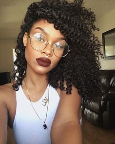 Of Course Black is Beautiful: Photo Long Bobs, Pelo Natural, Natural Curls, Colour Pop, Curly Hair Styles, Natural Hair Styles, Lunette Style, Gloss Matte, Natural Hair Inspiration
