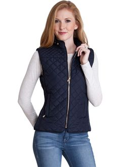 Quilted Padded Zipper Vest J153NB, clothing, clothes, womens clothing, jeans, tops, womens dress