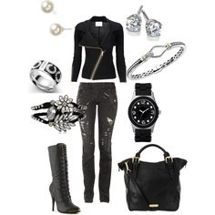"""""""Motorcylce chic ?"""" by michelle323 on Polyvore"""