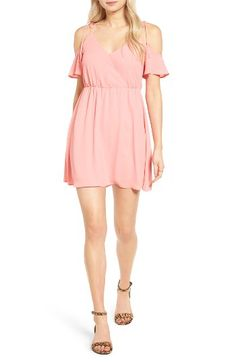 Lush Lush Surplice Cold Shoulder Dress available at #Nordstrom