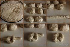 formowanie-buleczek-plecionych Stuffed Mushrooms, Food And Drink, Pizza, Menu, Bread, Baking, Vegetables, Teapot, Stuff Mushrooms