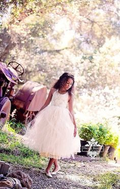 An insanely cute tutu flower girl dress from Elena Collection #wedding